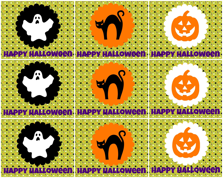 Printable Halloween Treat Bag Label