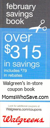 Walgreen's monthly in-store coupon book