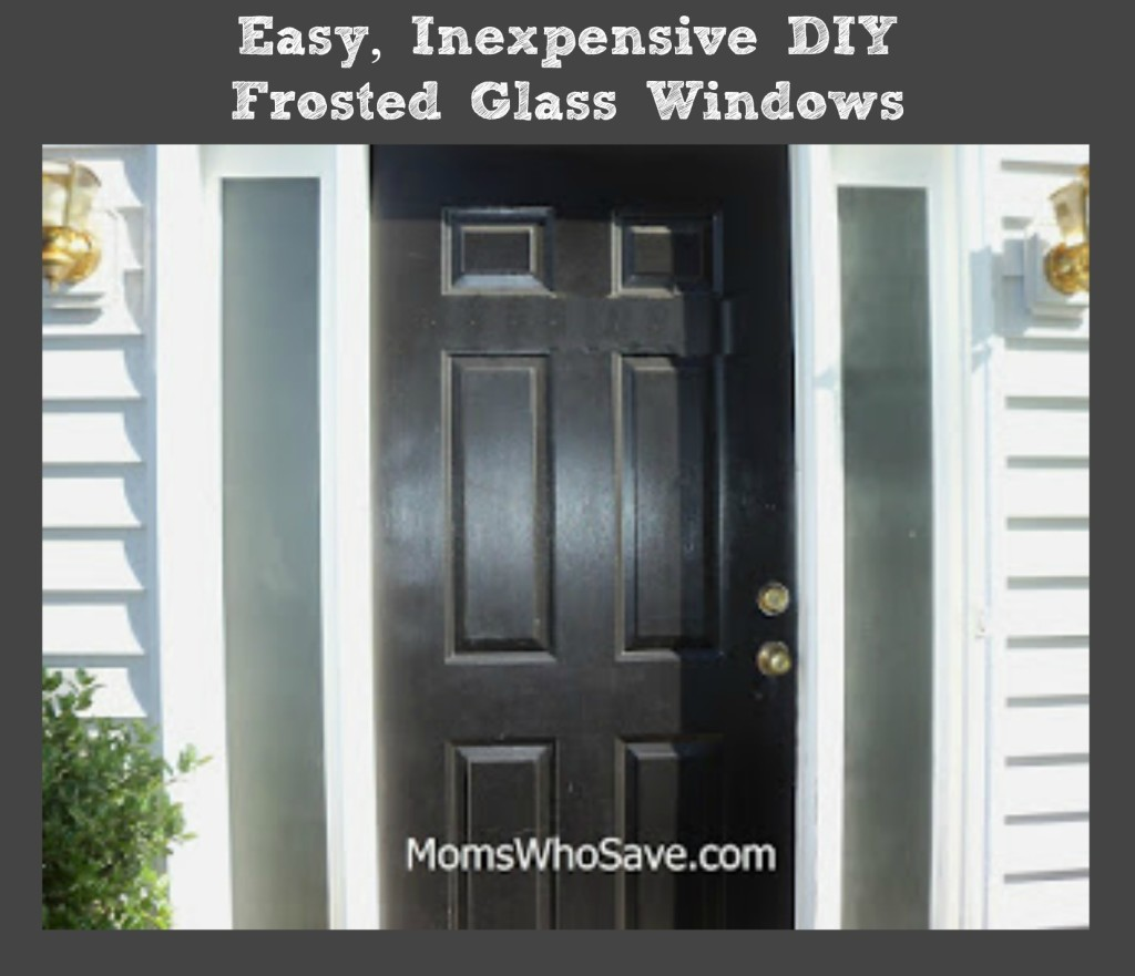diy easy inexpensive frosted glass windows
