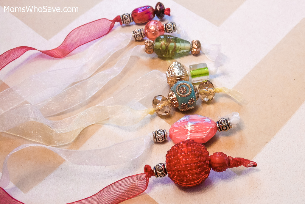 diy beaded bookmarks