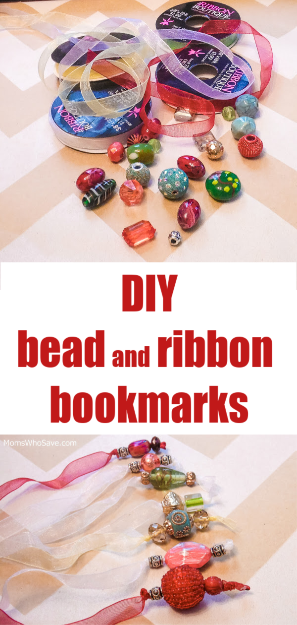 diy bead and ribbon bookmarks