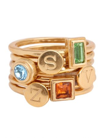 gold-stacking-birthstone-rings