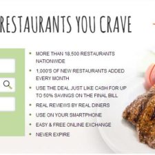 $4.50 for a $25 Restaurant Gift Certificate