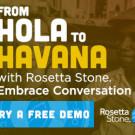 Rosetta Stone FREE Language Learning Demo — Choose From Four Languages