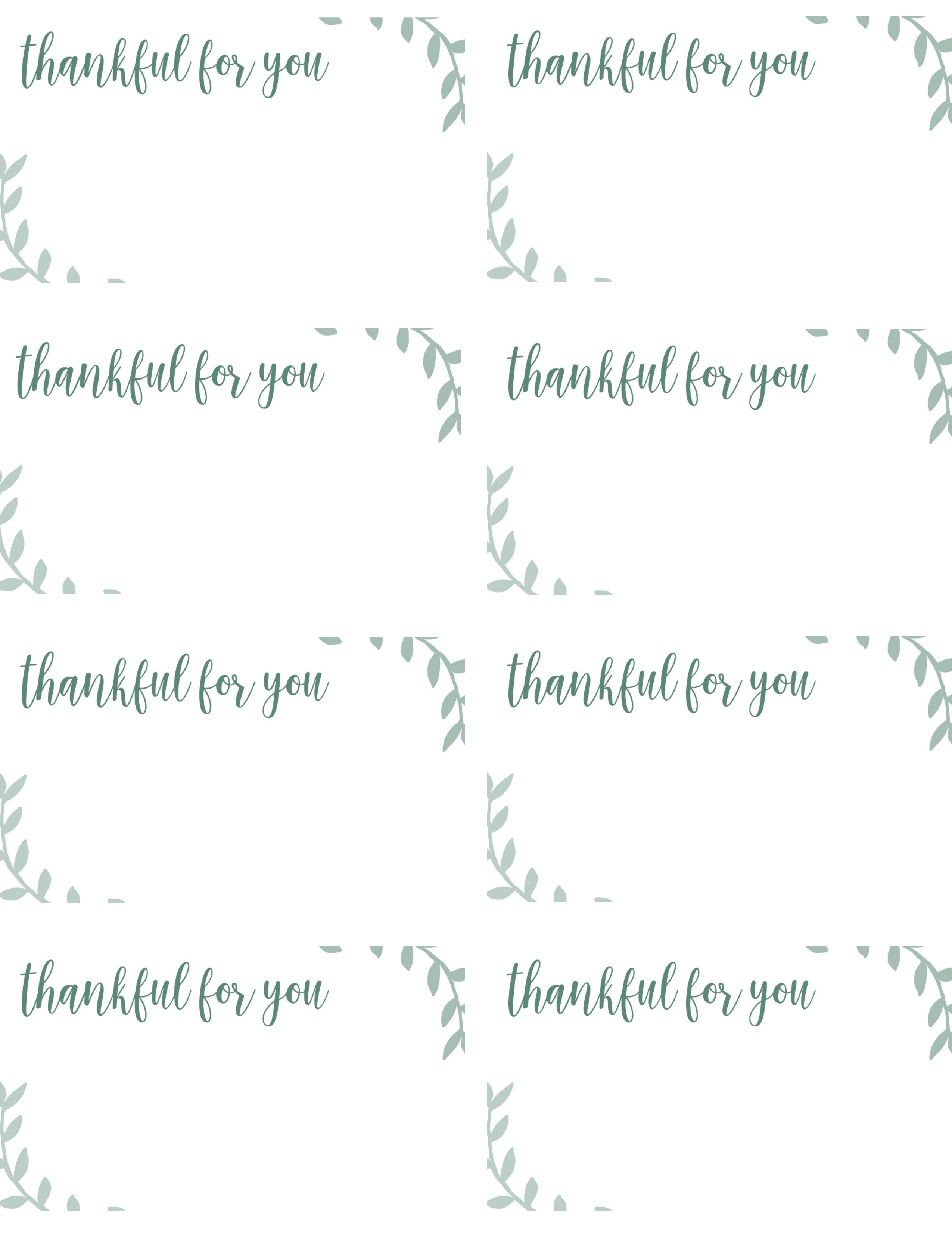 image relating to Printable Thanksgiving Place Cards called Absolutely free Printable Thanksgiving Destination Playing cards -- Far too Good for