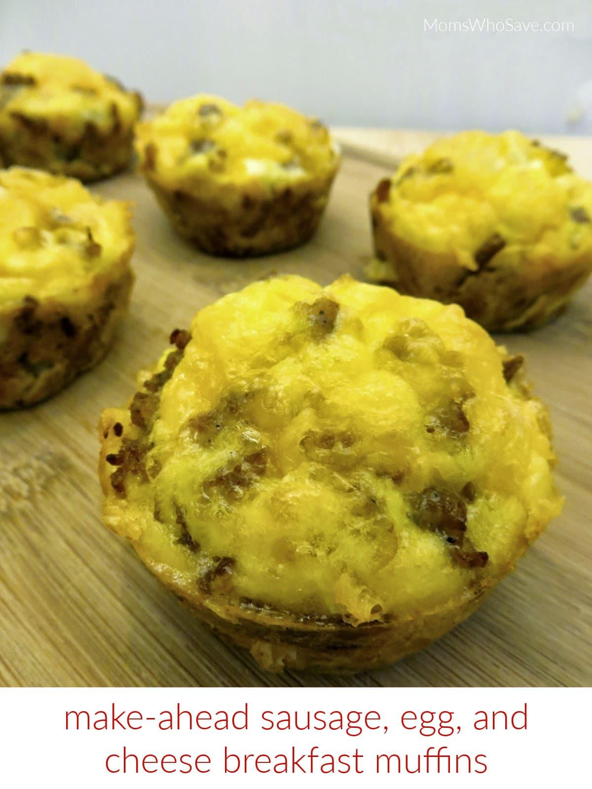 make ahead sausage breakfast muffins