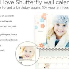 FREE Custom Photo Calendar From Shutterfly + 50% Off Custom Hardcover Photo Books, & 40% Off Everything Else