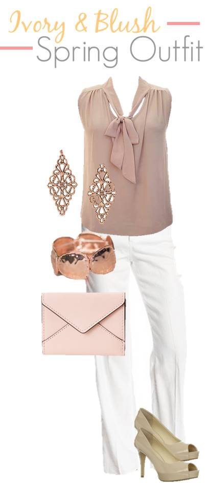 Ivory Blush Spring Outfit