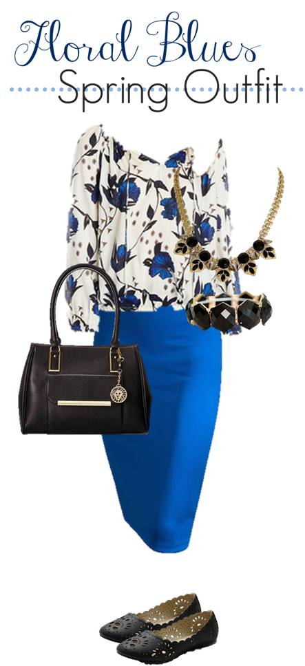 Floral Blues Spring Outfit