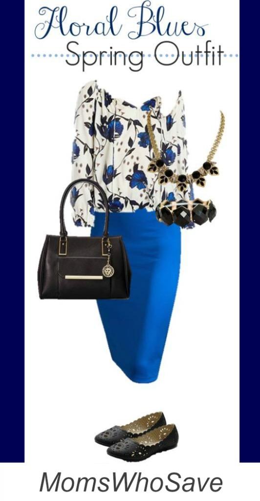 floral blues outfit