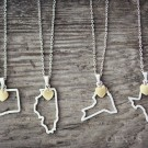 $11.99 + Free Shipping for These Popular Home State Necklaces, Including a New Bar Design