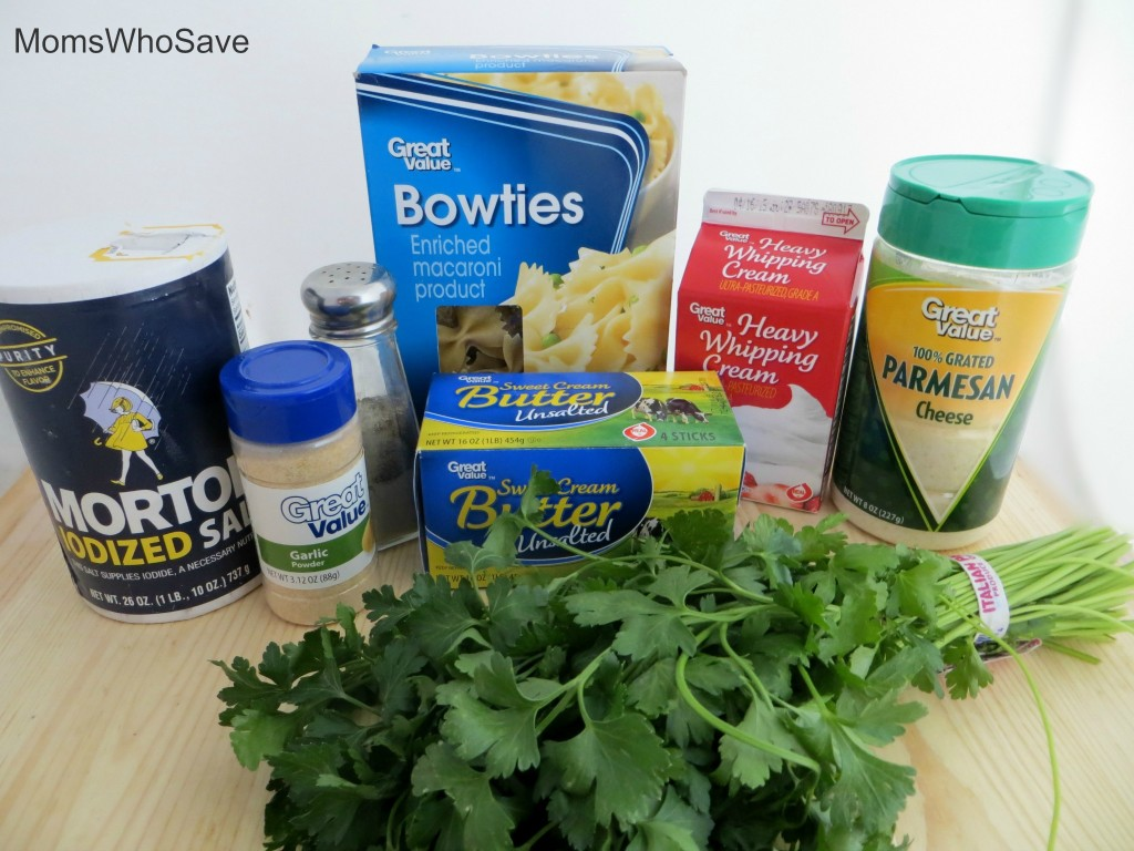 Ingredients 20-Minute Bow Tie Pasta Alfredo