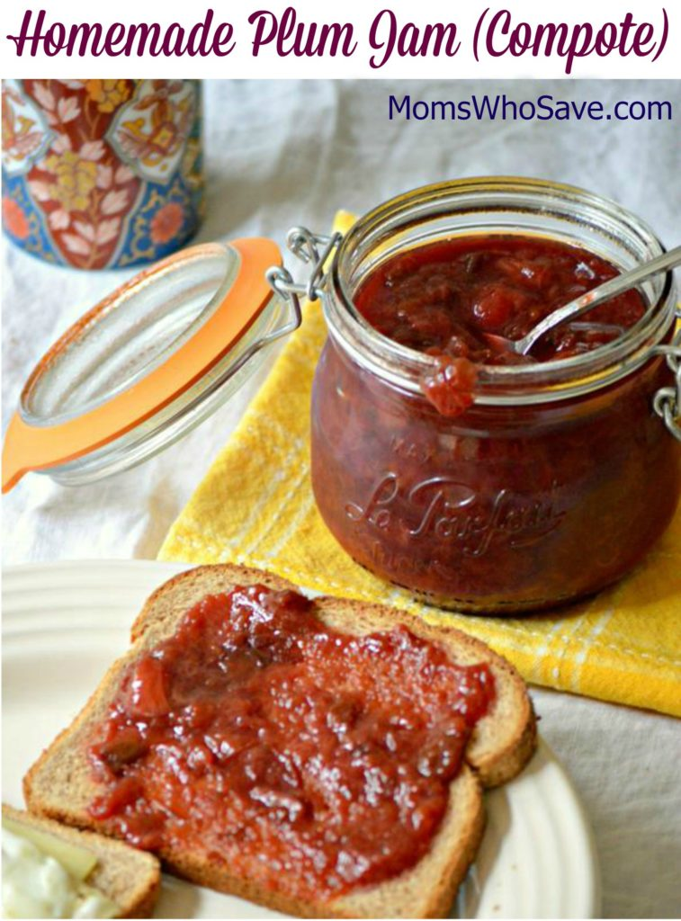 Homemade plum jam compote recipe Jam without boiling easy made flavorful