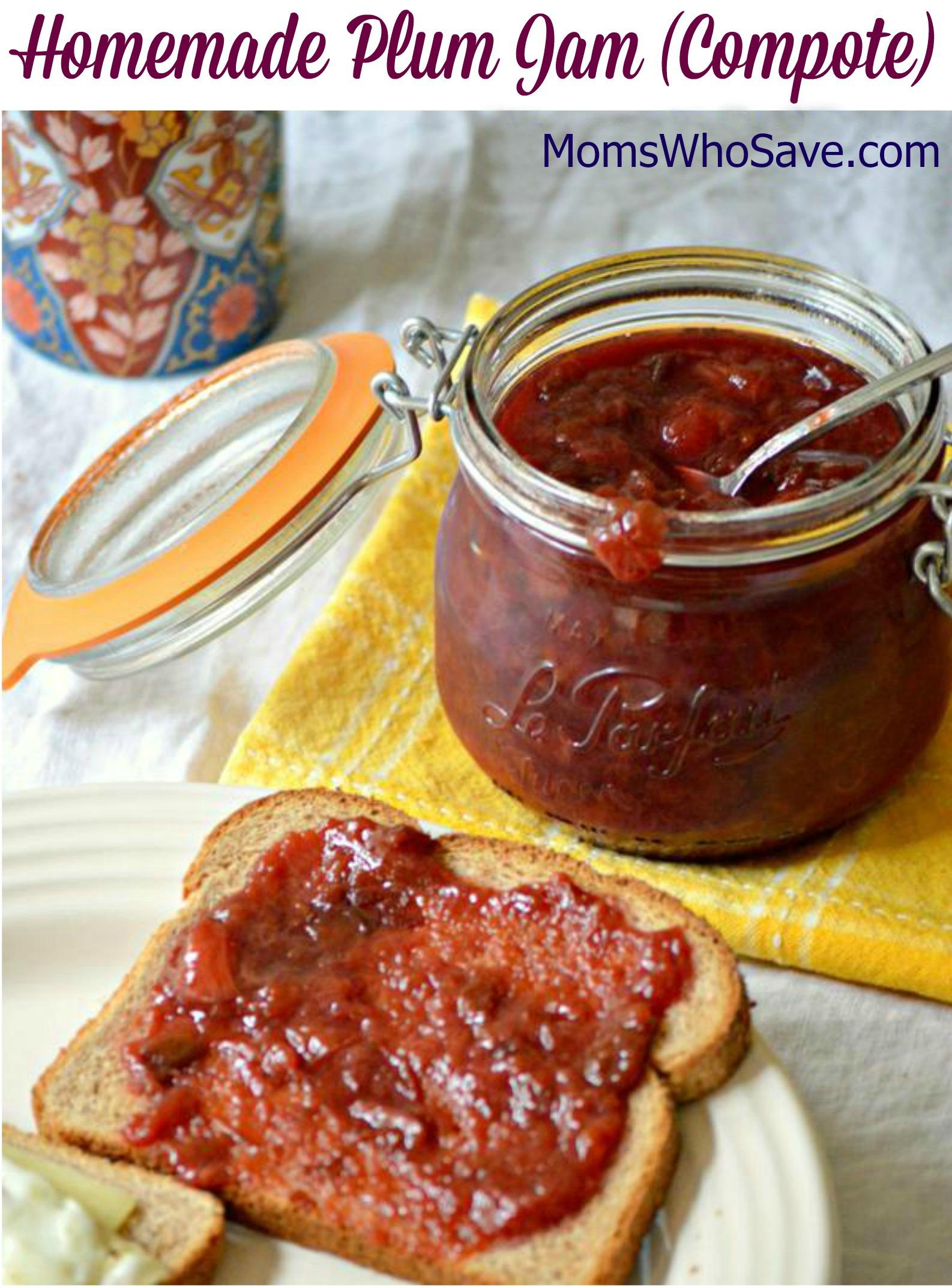 Homemade Plum Jam (Compote) Recipe