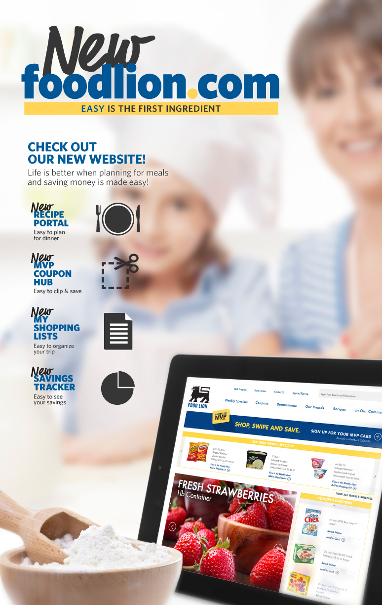 Food Lion's New Website — Helping You Meal Plan, Shop, and Save
