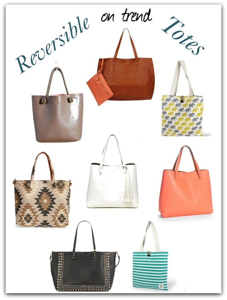 On Trend Reversible Totes -- Even More Stylish Totes!