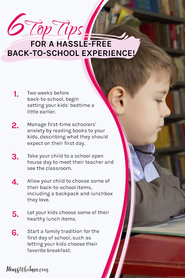 tips for a smooth back-to-school transition