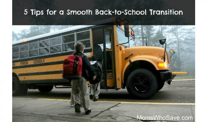5 Tips for a Smooth Back-to-School Transition