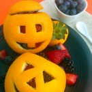 Orange Fruit-Filled Jack-O-Lanterns