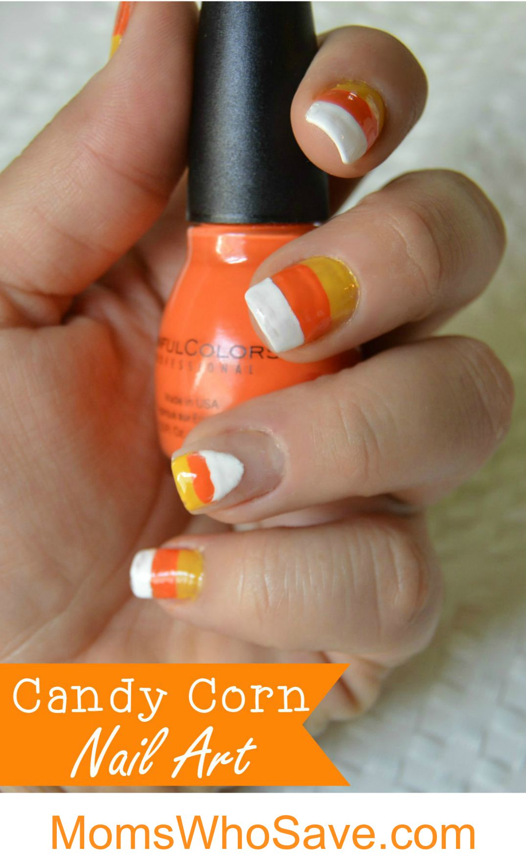 Halloween Candy Corn Nail Art Tutorial Momswhosave