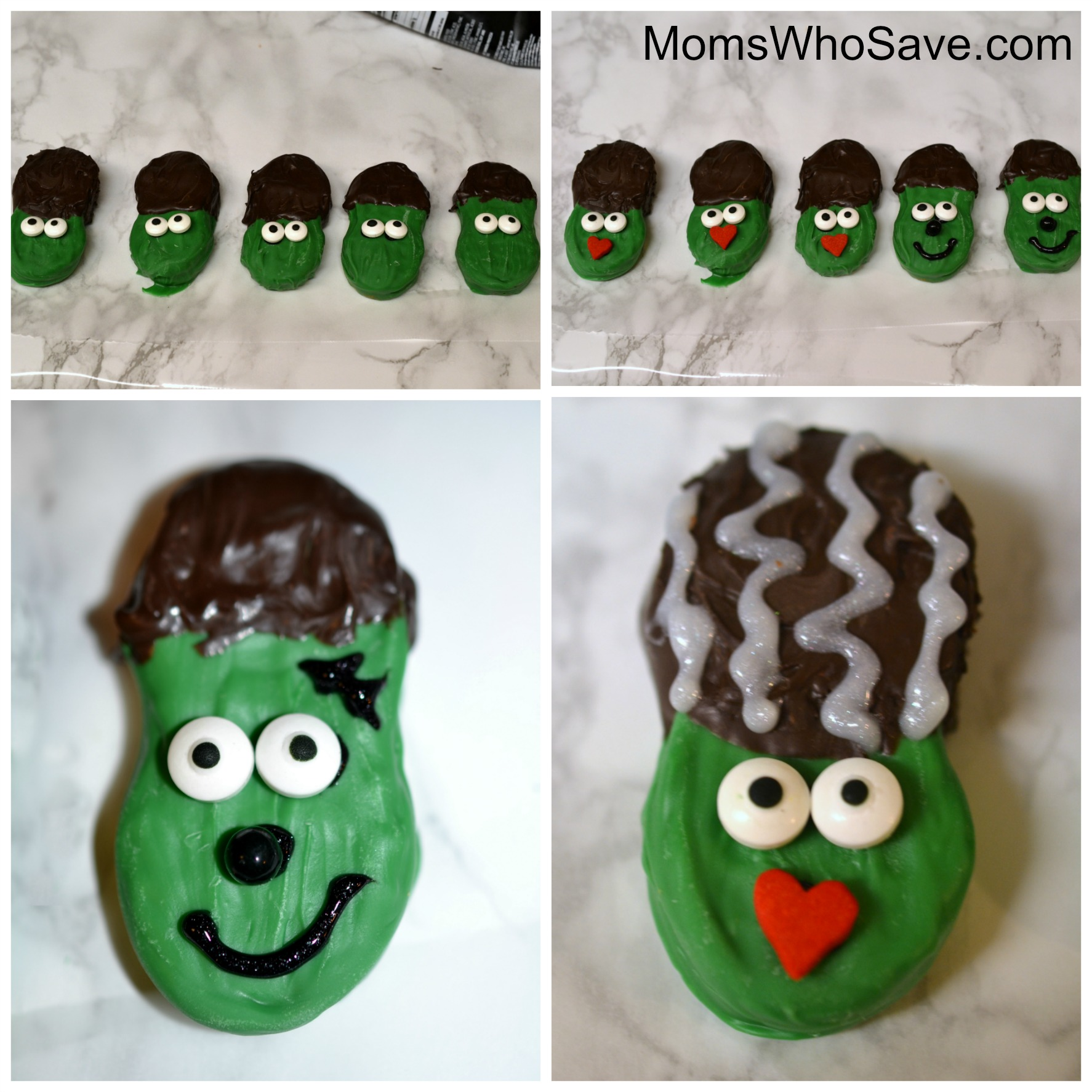 Frankenstein's Monster and Bride of Frankenstein Cookies