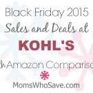 Black Friday Deals at Kohl's PLUS Amazon Price Comparisons