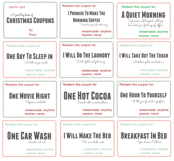 Free printable christmas coupon book momswhosave free christmas coupon book solutioingenieria Image collections