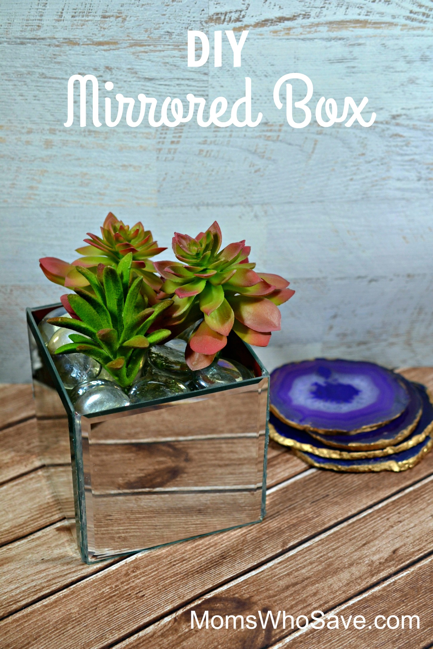 diy mirrored box