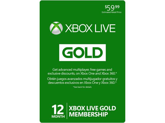 Microsoft XBOX Live Gold 12-Month Membership $34.99 (Reg. Price $59.99)