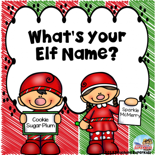 find your elf name and job for kids - Christmas Elf Names