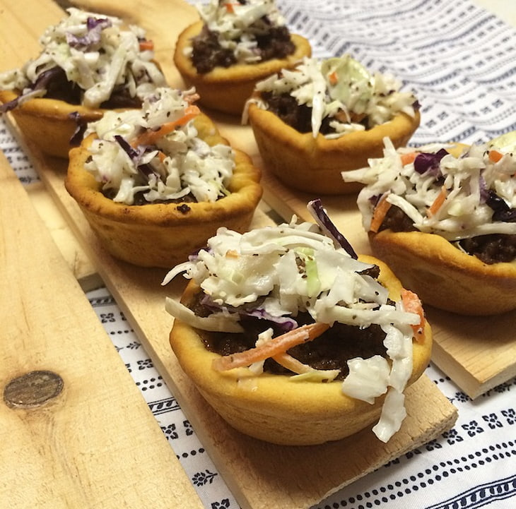 Barbeque Sliders with Memphis-Style Coleslaw