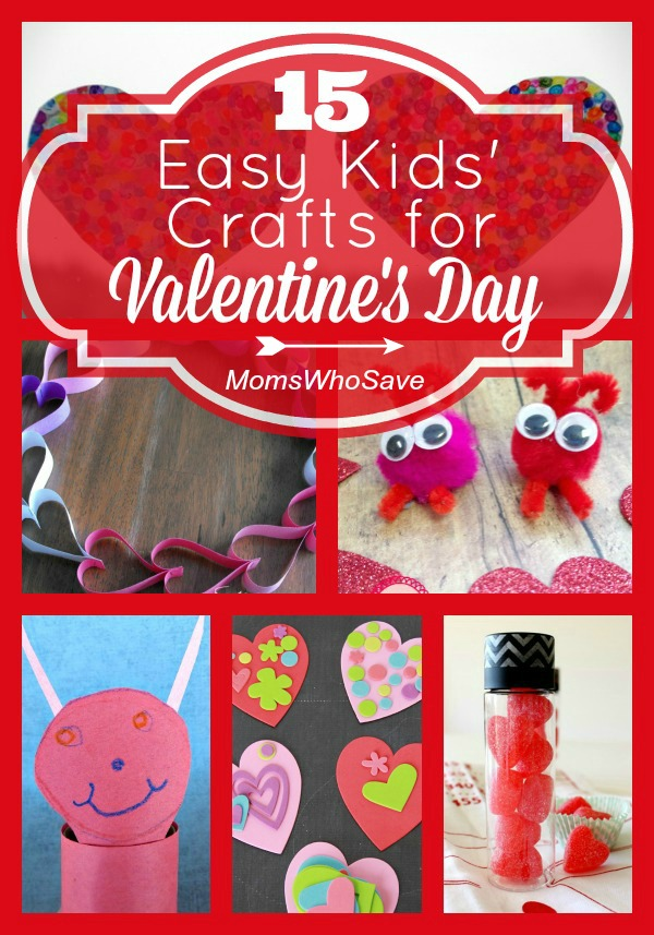 15 Easy Kids' Crafts for Valentine's Day