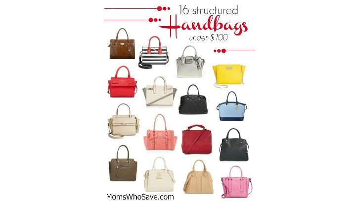 structured handbags under $100