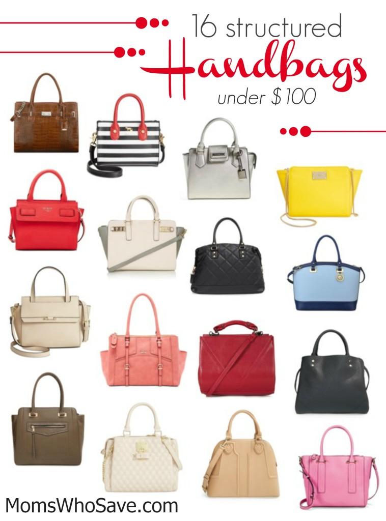structured handbags under 100