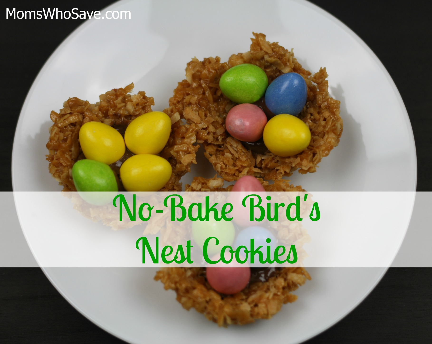 no bake nest cookies