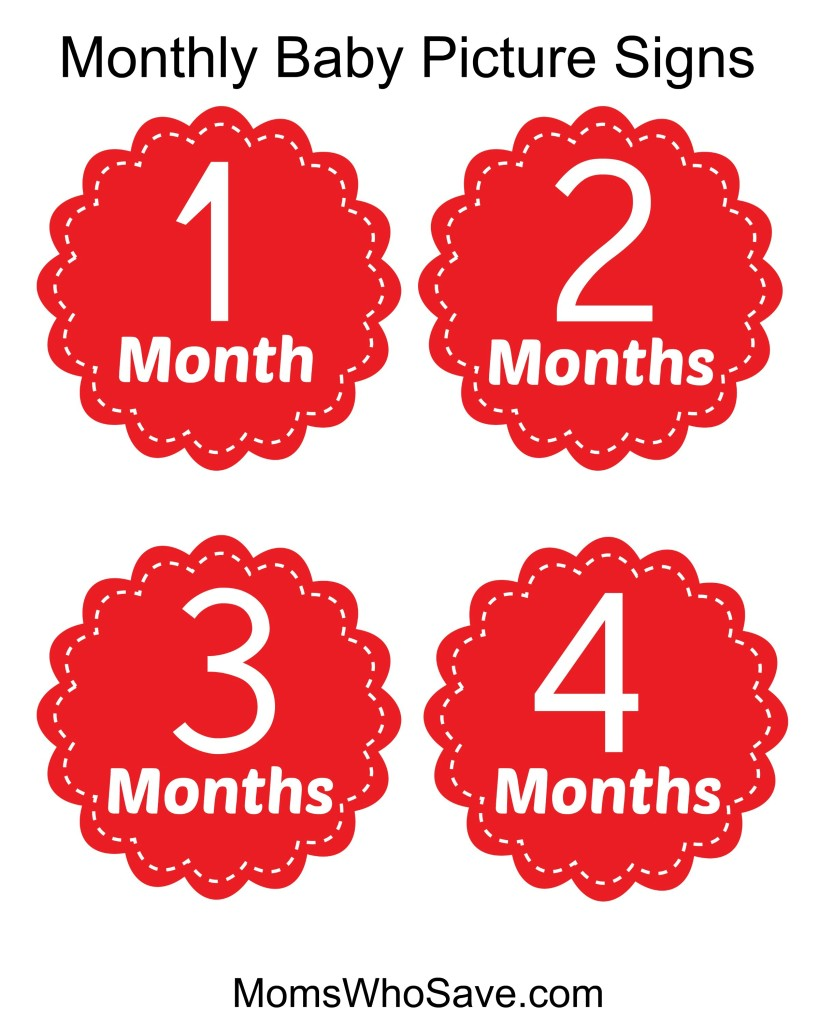 Free Printable Signs for Monthly Baby Pictures | MomsWhoSave.com