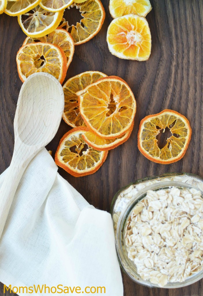 make your own Orange Honey Oat Bath Soak