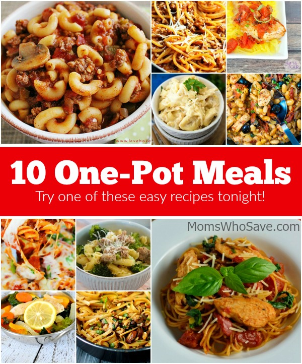 10 One-Pot Meals -- Try One of These Easy Recipes Tonight! | MomsWhoSave.com