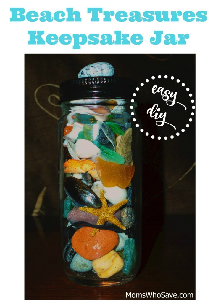 Beach Treasures Keepsake Jar -- Easy DIY | MomsWhoSave.com