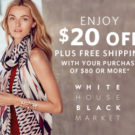 White House Black Market — Take $20 Off Your Purchase PLUS Get Free Shipping