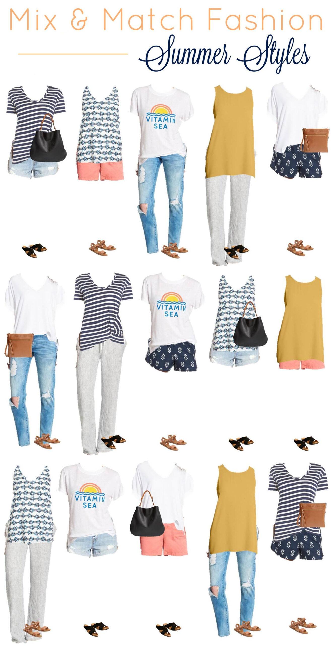 Mix and Match Fashion -- Summer Styles