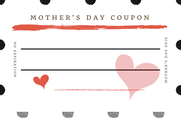 free printable coupon cards for Mother's Day