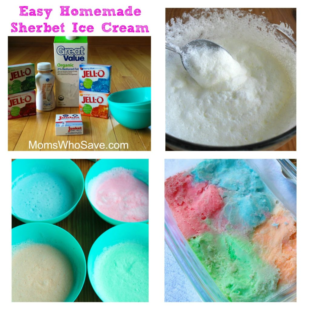 Easy Homemade Sherbet Ice Cream