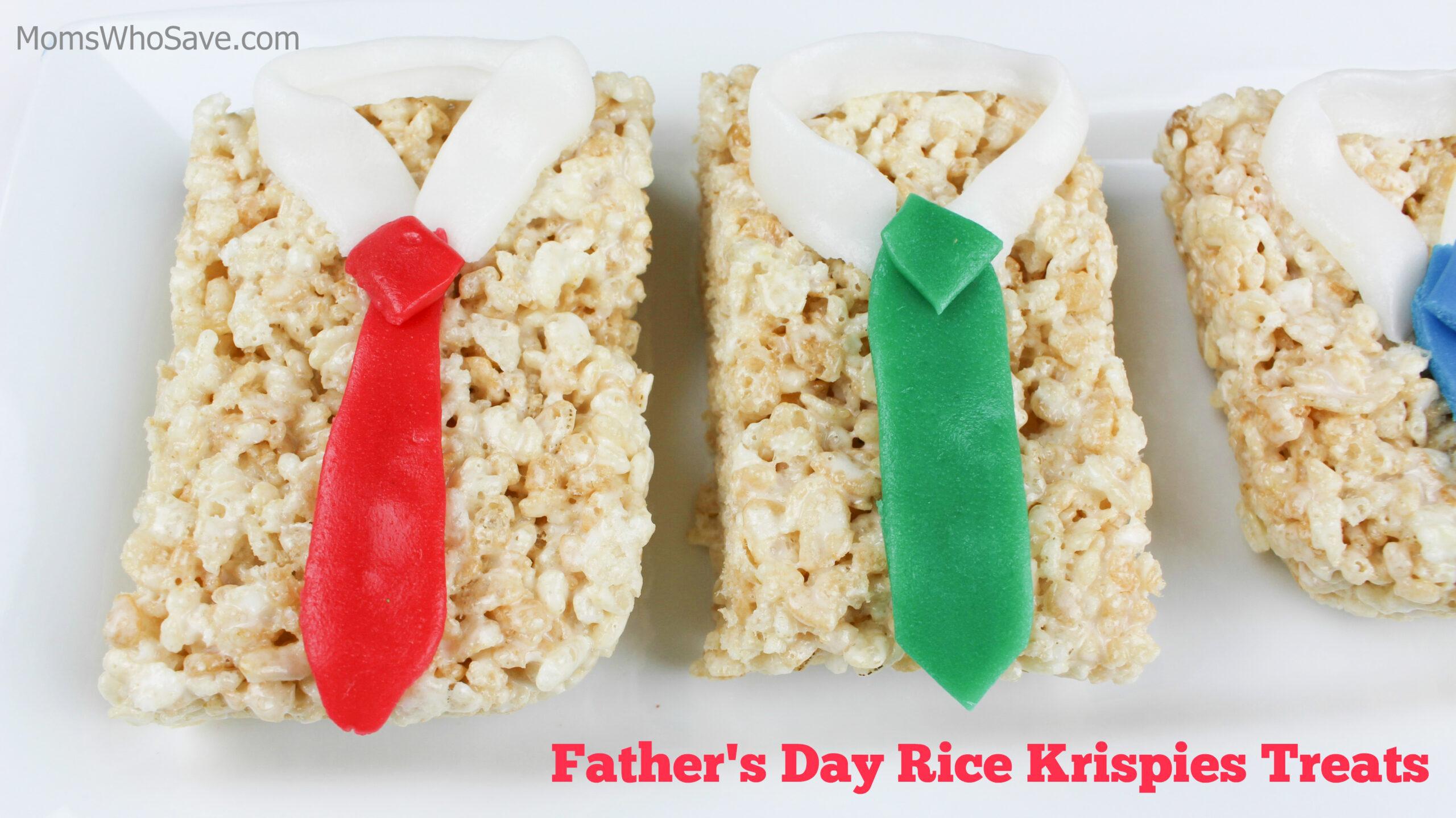 father's day rice krispie treats