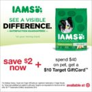 Get Your IAMS Coupon + a $10 Target Gift Card Deal!