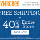 Gymboree — 40% Off + Free Shipping