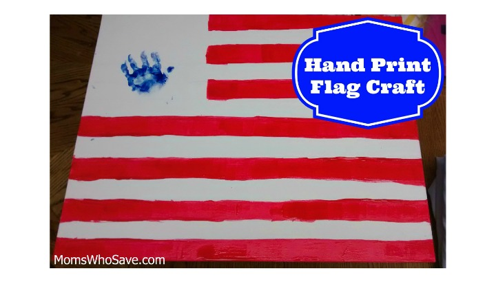 Kids' Hand Print Flag Craft