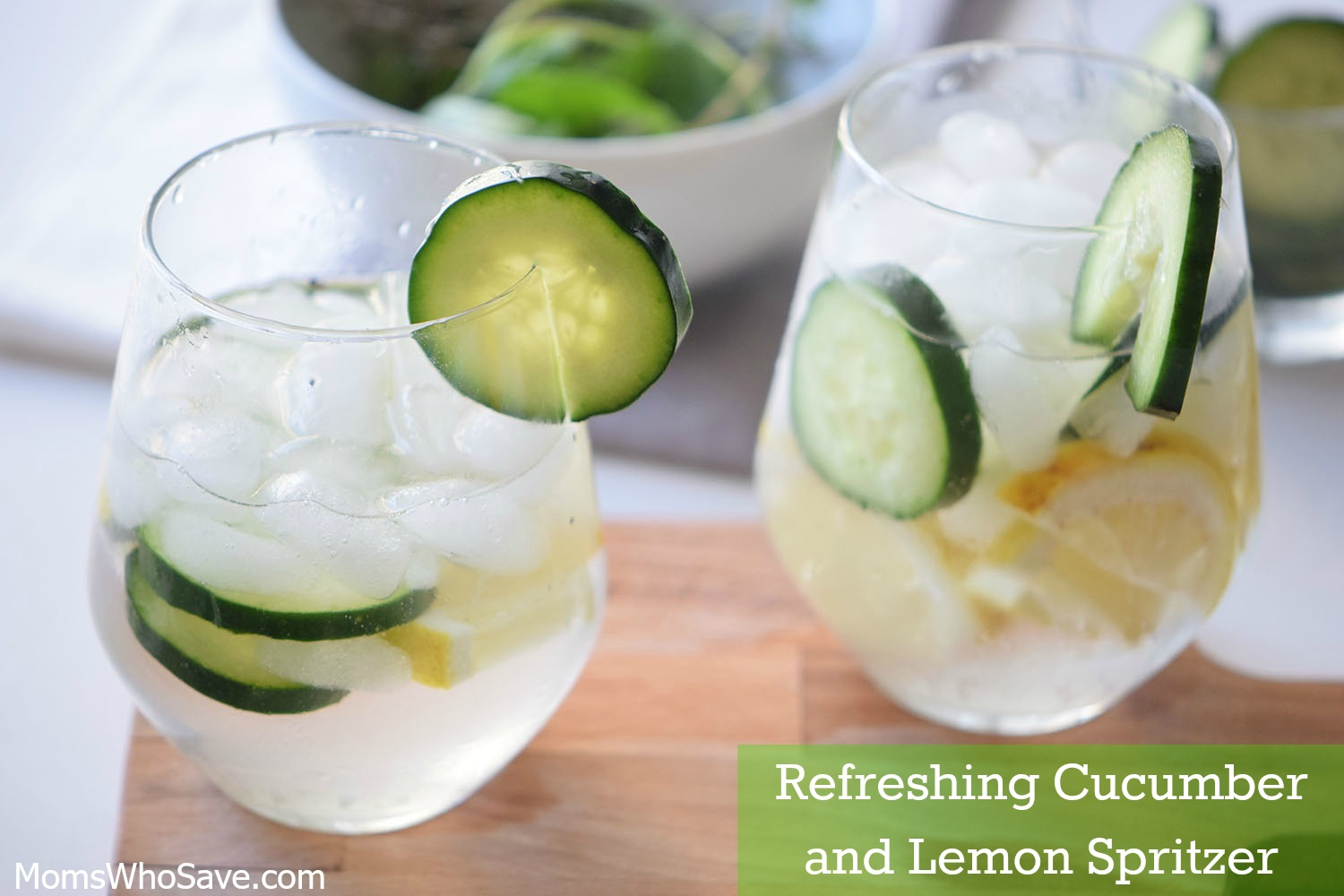 lemon lime cucumber spritzer