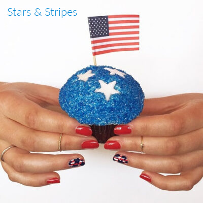 red white and blue nail art tutorial