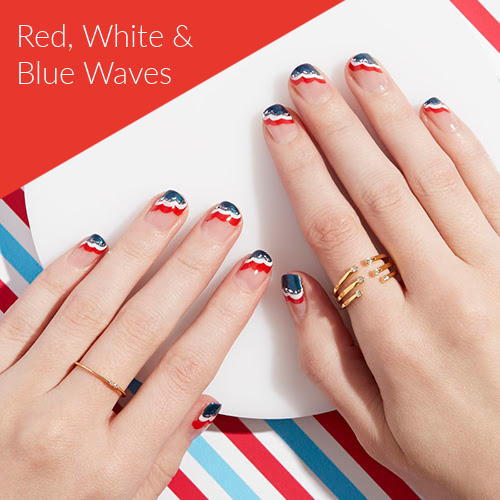 patriotic nail tutorial
